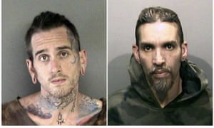 Booking photos show Max Harris, left, and Derick Almena, charged in the Oakland warehouse fire.