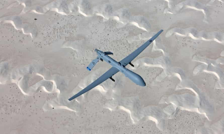 An MQ-1 Predator flies a training mission over New Mexico.