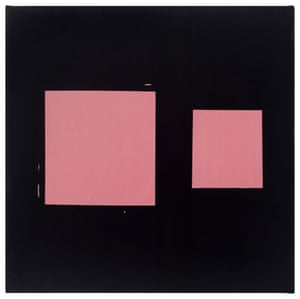 Pink Sliding Square 1978, by Mary Heilmann