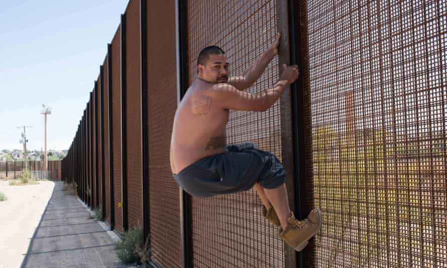 Vito, an El Paso resident, demonstrates how easy it is to cross the border.