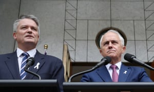 Mathias Cormann says it is necessary to support sovereignty by limiting influence through donations to those with Australian connections.
