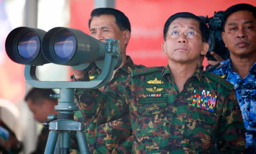 The UN report says Min Aung Hlaing, commander-in-chief of Myanmar'a armed forces, 'must be investigated and prosecuted'.