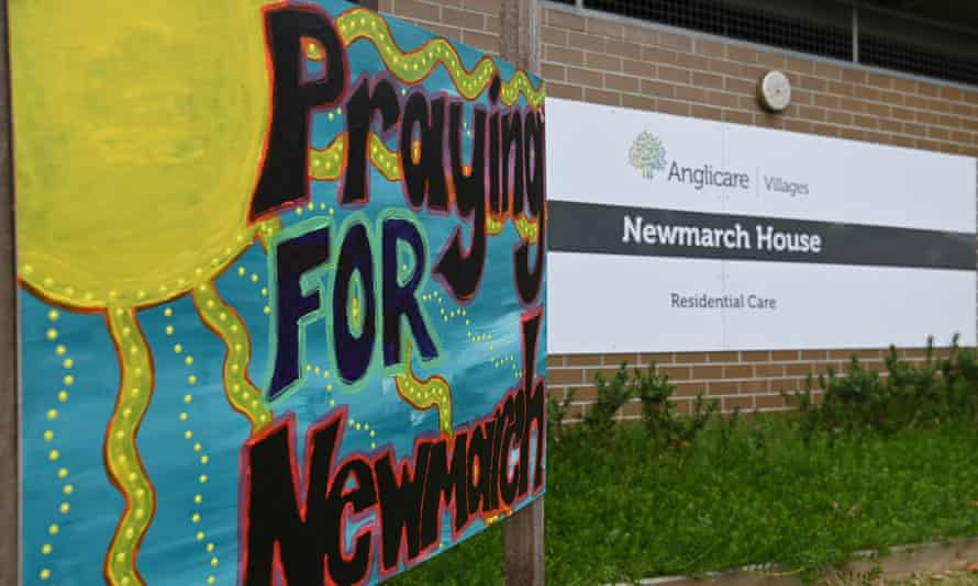 File photo of the Newmarch House aged care home in Sydney, where 17 people died from coronavirus