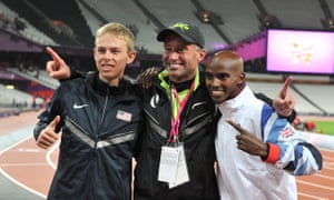 Mo Farah, right, pictured with Alberto Salazar, centre, and Galen Rupp, said: 'If Alberto had crossed the line, I would be out the door but Usada has not charged him with anything.'