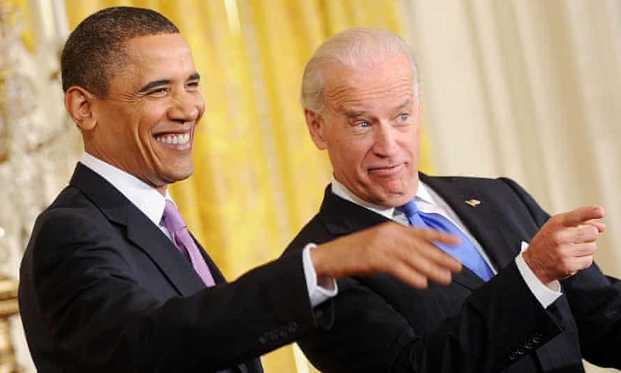 Barack Obama and Joe Biden at the US Conference of Mayors in Washington DC on 21 January 2010.