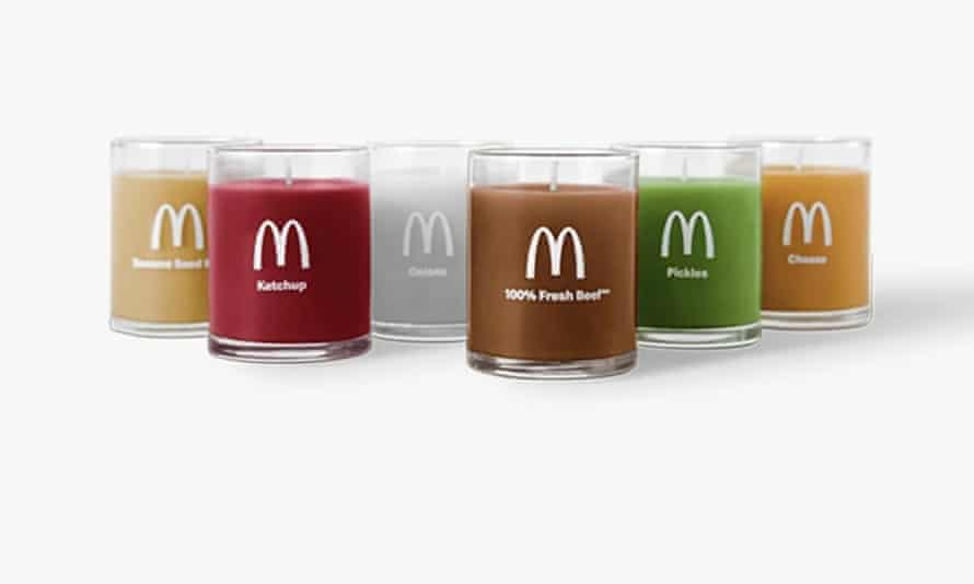 Quarter-pounder scented candle set from McDonalds