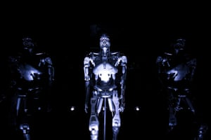 A T-800 endoskeleton used in the 1991 film Terminator 2: Judgment Day. One of the most terrifying robot villains to date, it has contributed to preconceptions of what robots might become.