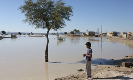 the village Dashtiari in Iran's Sistan-Baluchistan region after flooding.