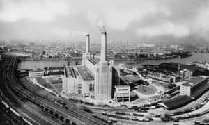August 1936: The original design of Battersea Power Station, with only two chimneys.