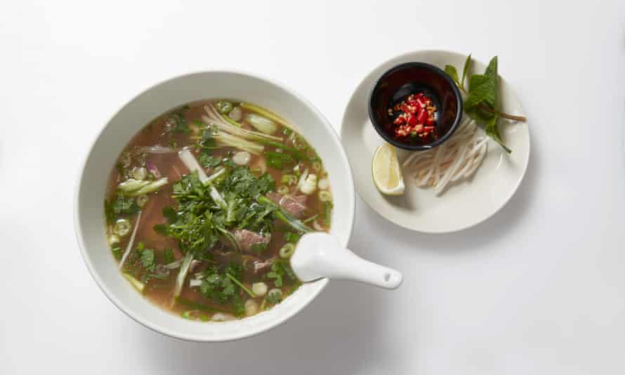 'Its rich savoury depths are profound and restorative': pho with beef and noodles.