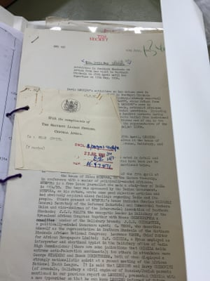 On of the four 'bloated' files MI5 kept on Lessing