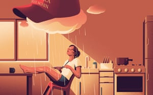 Cooking for one in the age of Trump illo