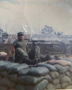 Larry Doggette in Chu Lai, Vietnam, 1970.