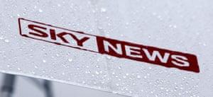 The Sky News logo.