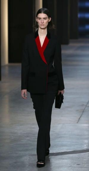 A model on the Christopher Kane catwalk