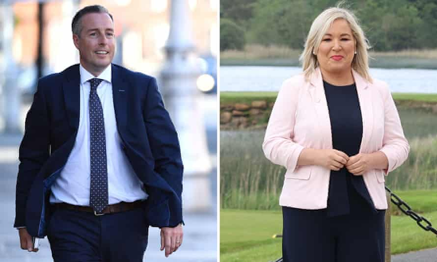 composite of paul givan and michelle o'neill