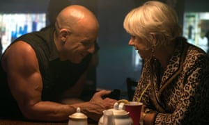 Vin Diesel and Helen Mirren in Fast & Furious 8