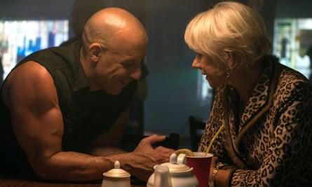 Vin Diesel and Helen Mirren in Fast & Furious 8
