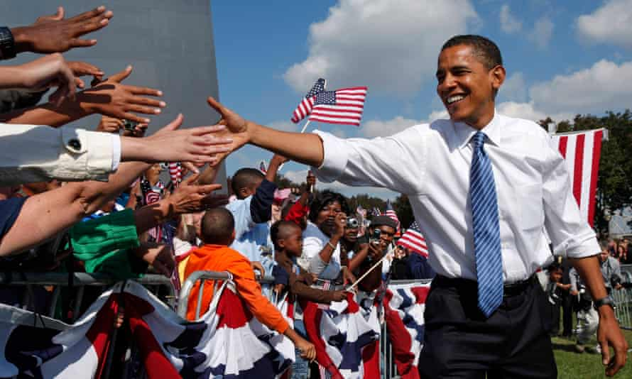Barack Obama on the campaign trail in 2008.