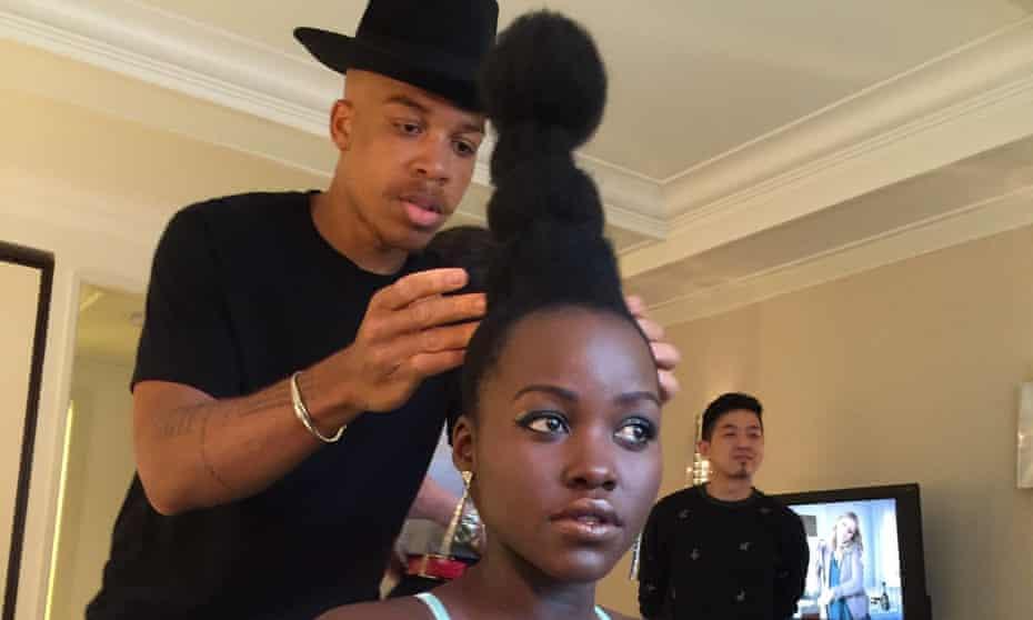 Hair-raising: Vernon François working with Lupita Nyong'o.