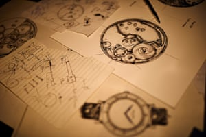 Design renderings of some of their watch projects, including the company's latest, called Project 248, which is their first in-house movement. The project will take two years to come to fruition and they will collaborate with about 30 other craftspeople to make the watch.