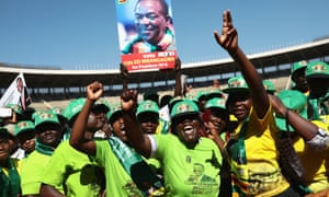 Zanu-PF supporters at the rally.