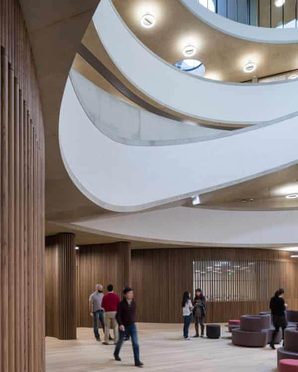 The central space of the Blavatnik school – which is not accessible to the public.