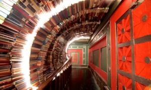 A book tunnel at The Last Bookstore, LA.