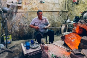 A former boxer, Hasan Hodhod is perhaps Cairo's most famous glassblower