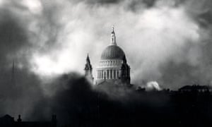 St Paul's cathedral during the Blitz in the second world war