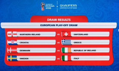 World Cup 2018 play-off draw in full – video report