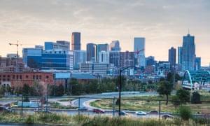 Denver at Sunrise in the Summer.