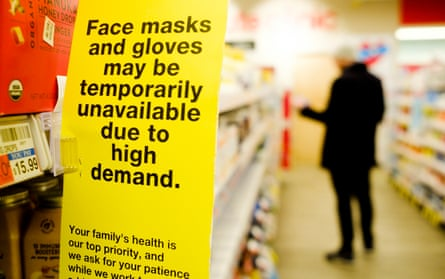 Some New York pharmacies have run out of face masks – but the CDC recommends people do not wear masks.