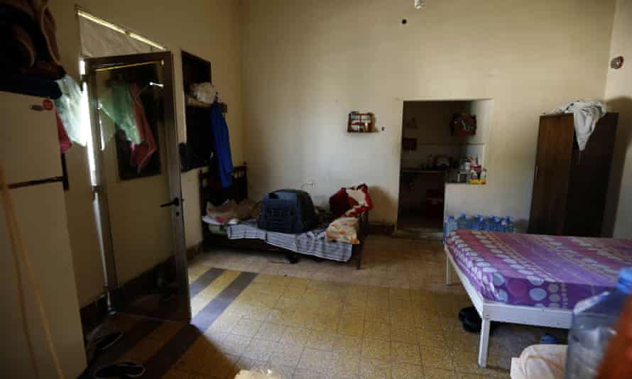 A room used by trafficked women at Chez Maurice.