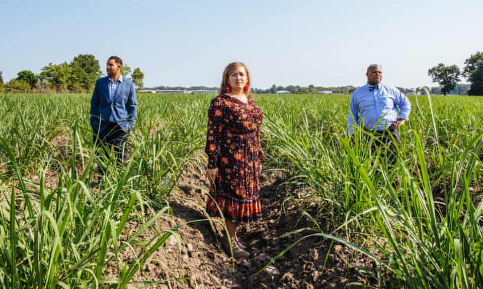 Today, June Provost (left) can count only four black sugarcane farmers left in the area.