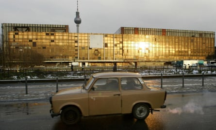 A surviving East German Trabant, also know as the Trabi, or a 'cardboard-box-on-wheels', 2006.