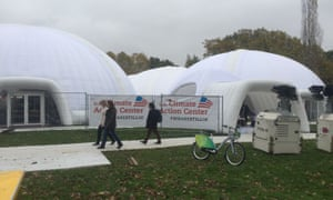 The huge alternative US Climate Action Centre at Bonn