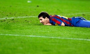 Lionel Messi is left distraught by the defeat to Sevilla.