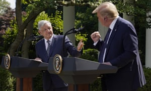 Andrés Manuel López Obrador said of Donald Trump: 'We thank him for not raising the subject [of the border wall] in public.'