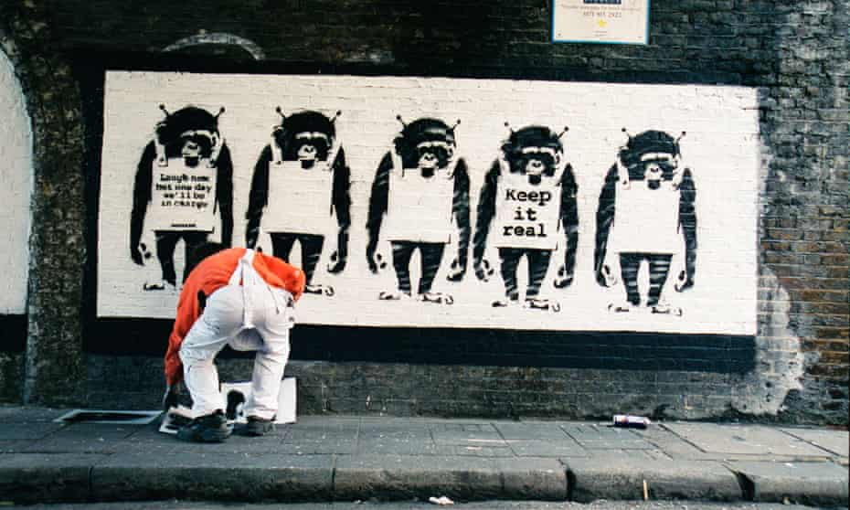 'Forget Warhol – Banksy's a genius' … the artist in an image from Banksy Captured.