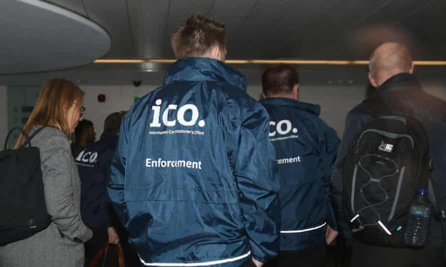 Officers of the Information Commissioner's Office raid Cambridge Analytica's office in March.