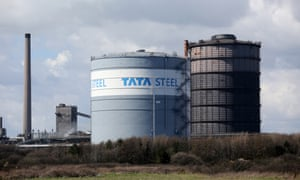 The Tata Steel plant at Port Talbot, south Wales.
