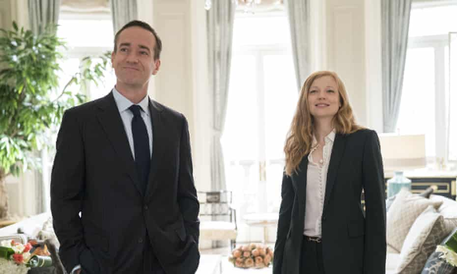 Macfadyen with Sarah Snook in Succession