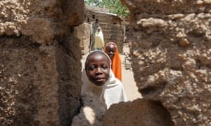 Children play in Goni Ibrahim's compound in Bama.