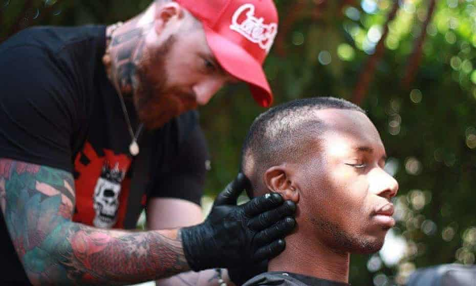 The Skullfades Foundation which offers free haircuts to people in Trafford