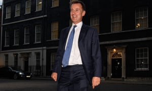 Jeremy Hunt the new foreign minister