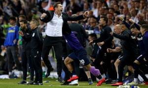 Derby manager Frank Lampard leads the celebrations as his side pipped Leeds to a place in the play-off final.