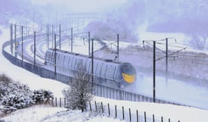 A passenger train passes through Kent