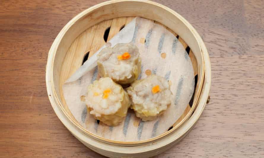'Compelling seafood bite': siu mai dumplings.