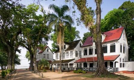 Historic houses, Paramaribo, Suriname.